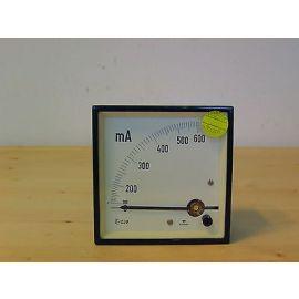 Amperemeter Gossen 0 - 600 mA Einbau 90x90 Messgerät Messinstrument Ampere