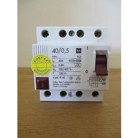 Fehlerstromschutzschalter F&G 40 / 0,5   40 A 230 / 400 V 4 polig FI S16/99