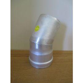 Rohrbogen mit 45° Abgasrohrbogen Aluminium 80 mm Winkel 45 Grad S16/196
