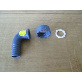 PVC Schlauch Winkel  mit  Schlauchtülle   1 Zoll  x 22   mit Dichtung    S13/342