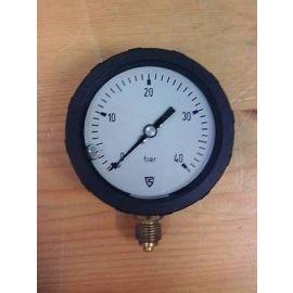 Druckmanometer RKG 63-1  40 bar Anschluss 1/4 Zoll Zeigerflüssigkeitsdämpfung