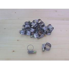 Schelle Schlauchschelle Halbzollschlauch Spannbereich 11-20 mm Marke Pebra 16017  Niro