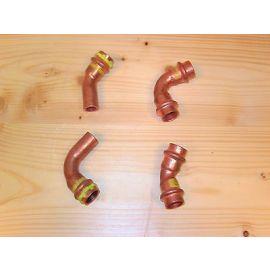 Viega Fitting Cu Kupfer Gasfitting 15 mm 90° Bogen Innen/Außen Pressfitting