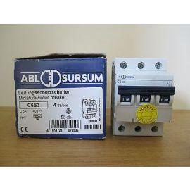 ABL SURSUM Automat Leitungsschutzschalter C6S3 6A 3 polig Pumpenkost S16/97