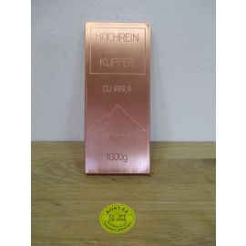 Kupferbarren Kupfer Barren 1 kg 1000 g Berchtesgadener Alpen 999,9 Hochrein