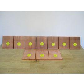 Kupfer Barren 10 x 1 kg Edelmetall 999,9 / 1000 Hochrein Kupferbarren €28,40/kg