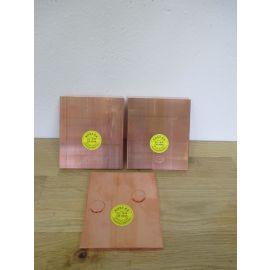 Kupfer Barren Kupferbarren 3 x 1 kg Edelmetall 999,9 / 1000 Hochrein € 21,80/kg