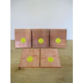 Kupfer Barren 5 x 1 kg Edelmetall 999,9 / 1000 Hochrein Kupferbarren € 20,60/kg
