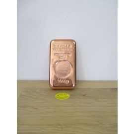 Kupfer Barren 1 kg CU Bar Fine Copper Ingot 999,9 Reinheit Zertifiziert Fein