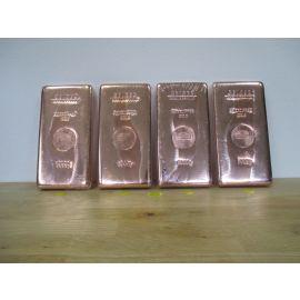 Kupfer Barren Geiger Güldengossa 4 x 5 kg Bar Fine 999,9 Fein € 23,30 / 1kg