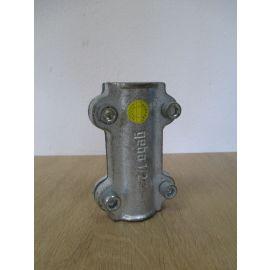 Gebo Temperguss Dichtschelle 1/2 Zoll für Stahlrohr Abdichtschelle K17/728