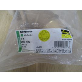 Viega Sanpress Übergangswinkel 90° IG 2 Zoll 54 mm Rotguss K17/897