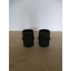 2 Stück PVC Verbindungs Muffe 50mm Höhe 68mm Verbindungsstück K17/967