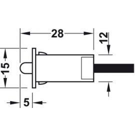 Häfele Tür Kontaktschalter D 12 mm 833.89.059 Möbel Endschalter K18/114