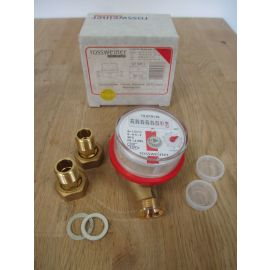 Rossweiner Wasserzähler 1270050  Warmwasser Etagenzähler Halbzoll S16/296