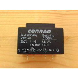 Trafo Transformator VTR-42 515019 Conrad pri 220 V sek 1x18 V 4,5 VA  T9/593