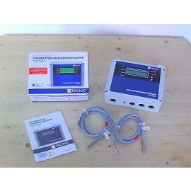 Temperaturdifferenzregler Solarregler  H Tronic TDR 2004 mit 2 PT 1000 Fühlern