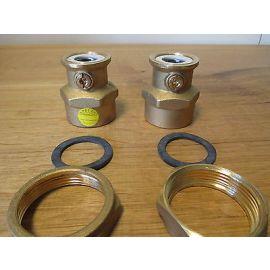 """Grundfos Nr. 00519807 Pumpenanschluss mit Absperrventil 1 1/2"""" x 1 1/4""""  S14/317"""