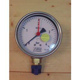 Manometer 0-4 bar Edelstahl SUKU Druck & Temperatur 1/2 Zoll KOST-EX  S13/64