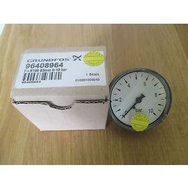 Grundfos 96408964 Druckmesser  63 mm 0 - 10 bar  Manometer  KOST - EX S14/211