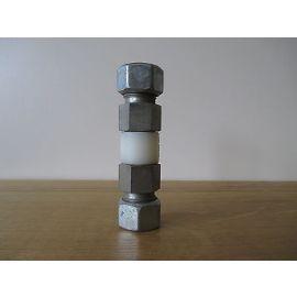 GOK GV Muffe 15x15 DIN geprüft Gasmuffe gerade isoliert S13/337