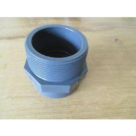 "PVC Fittings Astore 2'' x 1'' 1/4   2"" AG   1 1/4"" IG Gewinde PUMPENKOST S13/332"