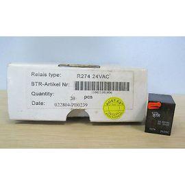Relais R274 Spule 24 VAC BTR Kontakte 5A 250VAC 5A 30VDC 022804-PB0239  S16/87