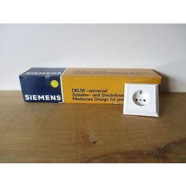 10 Unterputzsteckdosen mit Rahmen Siemens Schuko Steckdose Fläche 5UB1240  S16/211