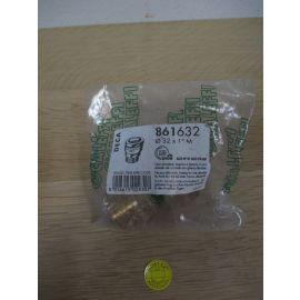 Messing Verschraubung 32 mm x 1 Zoll Aussengewinde PE-Rohr DECA K17/1034