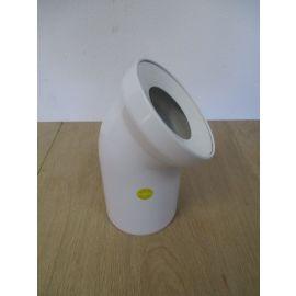 Sanit WC Anschlussbogen DN 100 45° Grad Bogen weiss KOST-EX K17/718