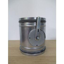 Lüftngsklappe DN 160 H 195 mm mit Lippendichtung Wickelfalz Stahlblech K17/814