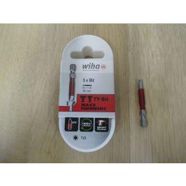 Wiha Bits TY - Bit T25 49 mm 5 Stück in einer Box Torx Schraube K17/904