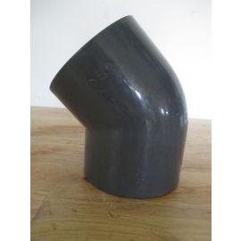 PVC h Winkel 45° Bogen Rohr 75 mm Klebemuffe Teichbau K17/964