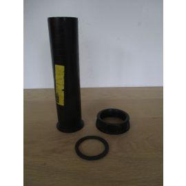 PVC Anschlussstutzen mit Verschraubung 1 1/4 Zoll Länge 190 mm K17/971